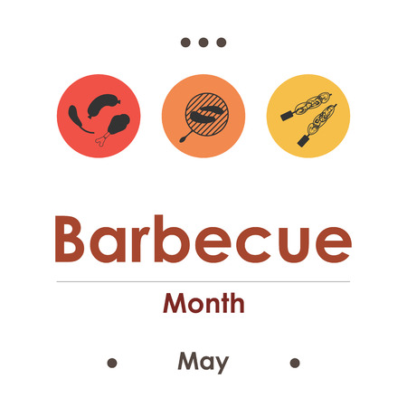 vector illustration for berbecue month in May Ilustração
