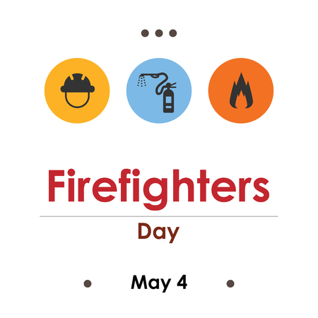 vector illustration for firefighters day in May