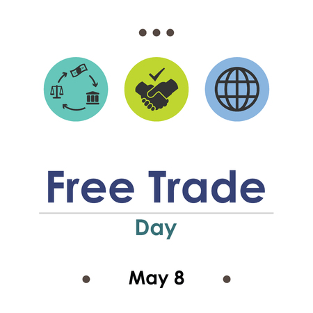vector illustration for free trade day in May