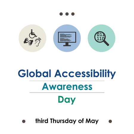 vector illustration for global accessibility day in May Иллюстрация