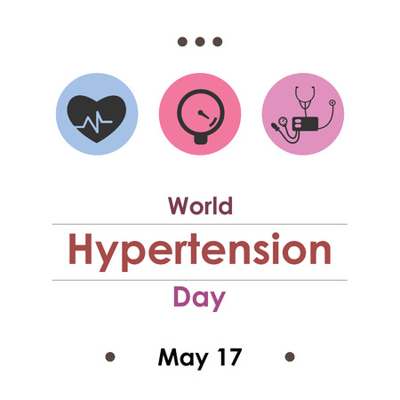 vector illustration for hypertension day in May Archivio Fotografico - 126179528