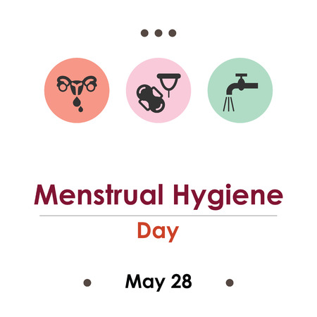 vector illustration for menstrual hygiene day in May