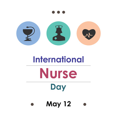 vector illustration for nurse day in May