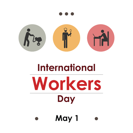 vector illustration for international workers day in May 向量圖像