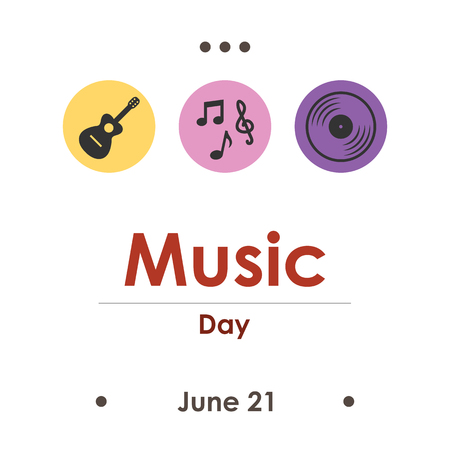 vector illustration for music day in June
