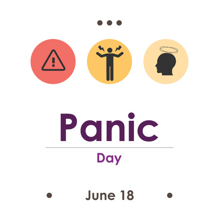 vector illustration for panic day in June