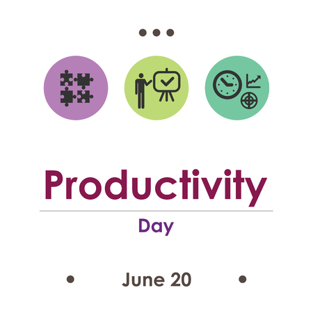 vector illustration for productivity day in June