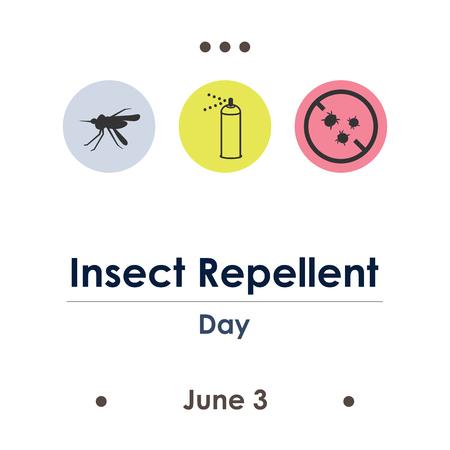 vector illustration for repellent day in June Çizim