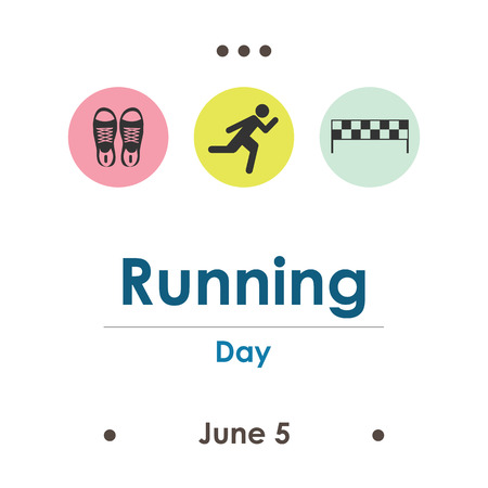 vector illustration for running day in June Illustration
