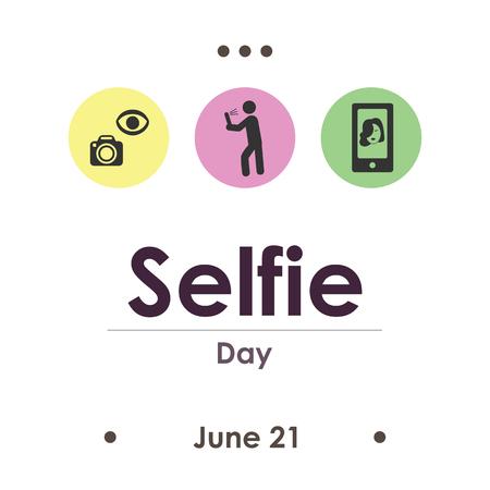 vector illustration for selfie day in June