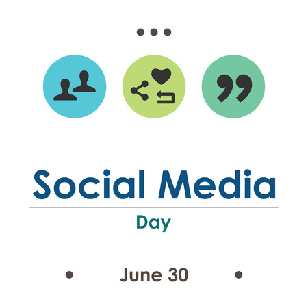 vector illustration for social media day in June Archivio Fotografico - 126179496