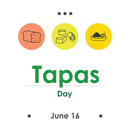 vector illustration for tapas day in June