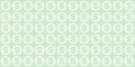 vector illustration of pastel pattern of money signs for business and currency backgrounds