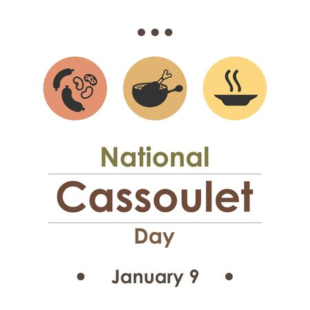 vector illustration  for cassoulet day  in january Ilustracja