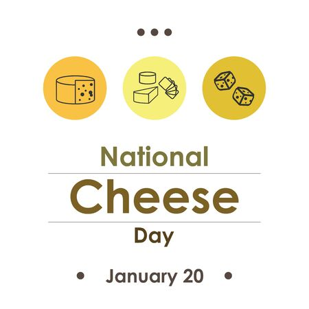 vector illustration  for cheese day  in january Иллюстрация