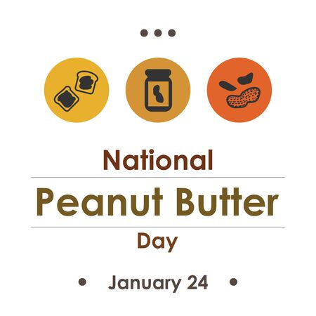 vector illustration for peanut butter day in january