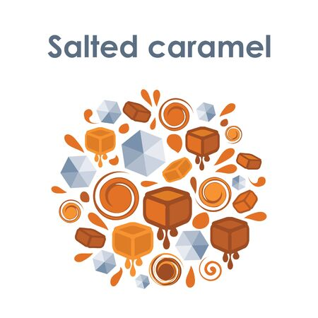 vector illustration of salted caramel