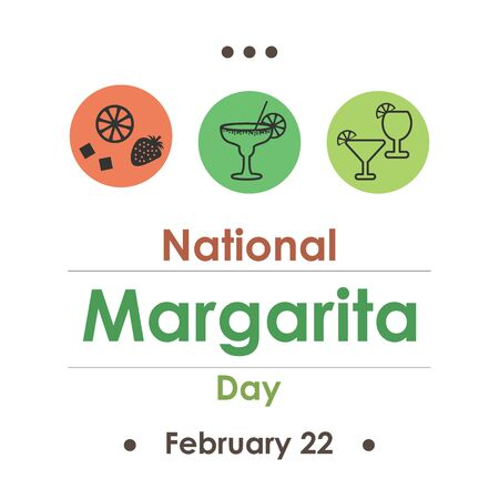 vector illustration for margarita day in February