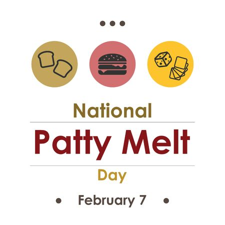 vector illustration for patty melt day in February