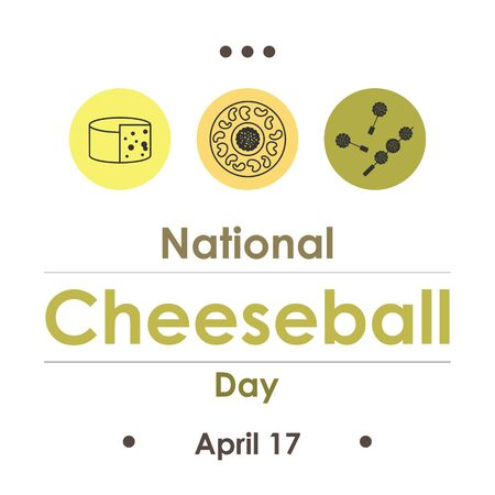 vector illustration for National Cheeseball Day in April