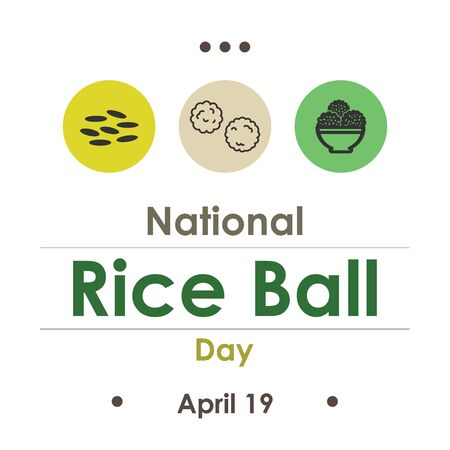vector illustration for National Rice Ball Day in April 일러스트