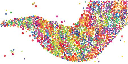 vector illustration of colorful confetti stream for creativity and inspiration concepts