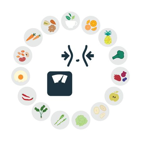 vector illustration of healthy foods for weight loss