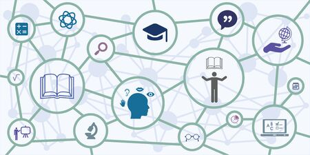 education and learning online opportunities Векторная Иллюстрация