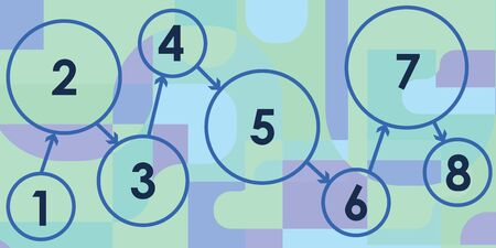 vector illustration of circle shape designs with numbers and arrows for stages and steps concepts