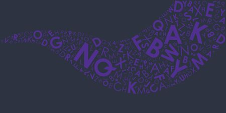 vector illustration of alphabetic letters wave shape for abstract banners and background