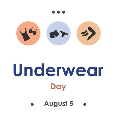 vector illustration for underwear day in August