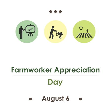 vector illustration for farmworker appreciation day in August 일러스트