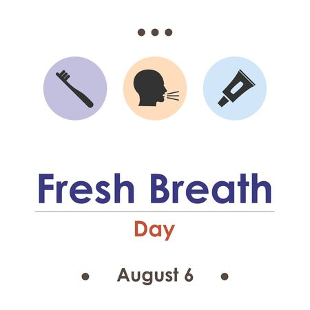 vector illustration for fresh breath day in August