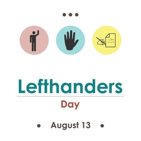 vector illustration for lefthenders  day in August Stok Fotoğraf - 150277935