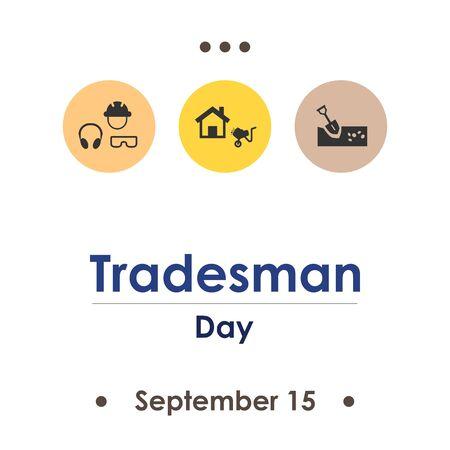 vector illustration for tradesman day in september