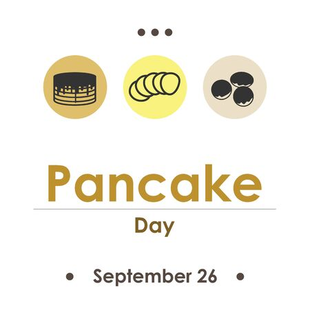 vector illustration for pancake day in September