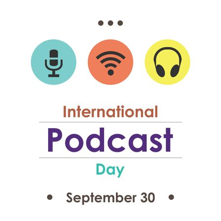vector illustration for podcast day in September