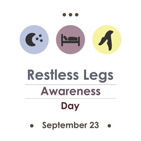 vector illustration for  restless legs awareness day in September