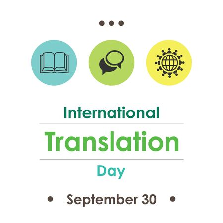 vector illustration for translation day in September