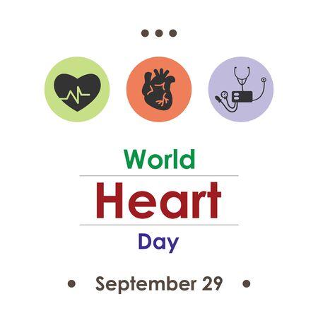 vector illustration for world heart day in September