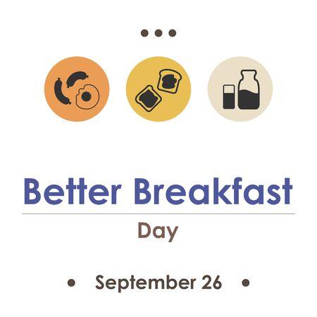 vector illustration for better breakfast day in September