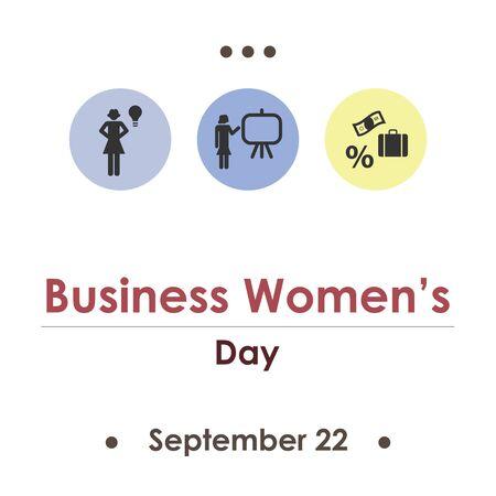 vector illustration for business womens day in September Illustration