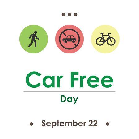 vector illustration for car free day in September Illustration