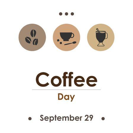 vector illustration for coffee day in September Illustration