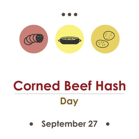 vector illustration for corned beef hash day in September