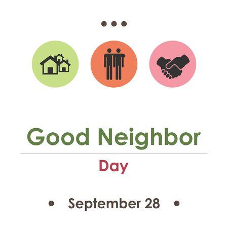 vector illustration for good neighbor day in September