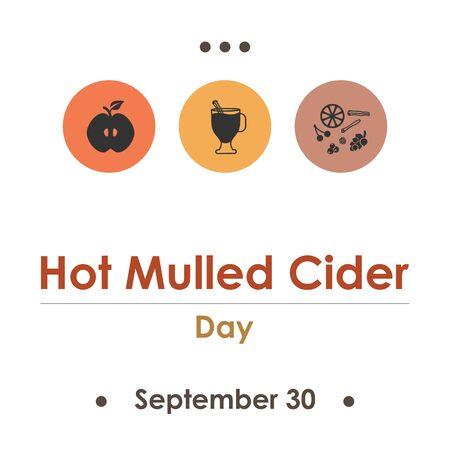 vector illustration for hot mulled cider day in September