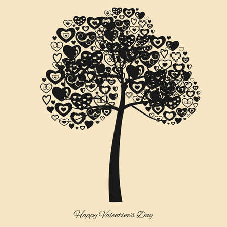 vector illustration / happy valentines day / greeting card Banque d'images - 152150938