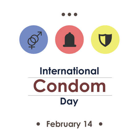 vector illustration / International Condom Day