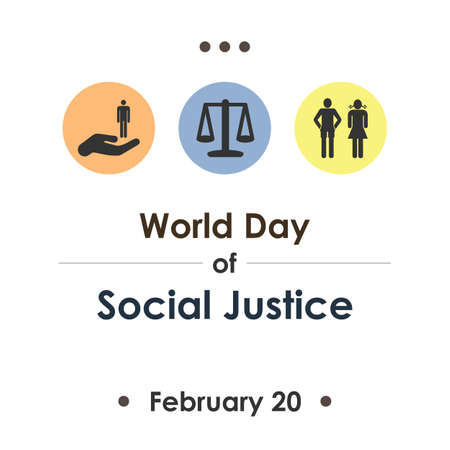 Vector illustration / World Day of Social Justice